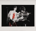 """Music Memorabilia:Photos, Mick Jagger and Keith Richards Limited Edition Photo. A great b&w with red spot color 21"""" x 24"""" print of Mick and Keith in c... (Total: 1 Item)"""