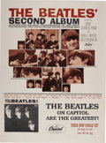 "Music Memorabilia:Posters, The Beatles Second Album Promotional Poster (Capitol, 1964). ""The Beatles Second Album"" came out in April 1964, only 3 mont... (Total: 1 Item)"