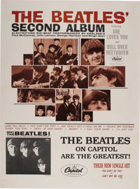 "The Beatles Second Album Promotional Poster (Capitol, 1964). ""The Beatles Second Album"" came out in April 1964..."