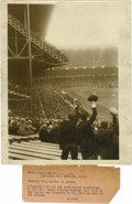 """Baseball Collectibles:Photos, 1923 Yankee Stadium Opening Day Service Photograph. Tremendous image for the 8x10"""" service photo depicts the inaugural Openi..."""