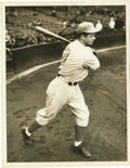 """Baseball Collectibles:Photos, Circa 1930s Jimmie Foxx Service Photograph. Excellent 6.5 x 8.5""""service photo comes to us by way of International News Pho..."""