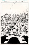 Original Comic Art:Splash Pages, Eric Larsen - Savage Dragon #84 Alternate, Unpublished CoverOriginal Art (Image, 2001)....