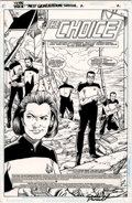 Original Comic Art:Splash Pages, Gordon Purcell and Terry Pallot - Star Trek: The Next GenerationSpecial #2, Splash Page 2 Original Art (DC, 1994)....