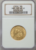 Early Half Eagles, 1810 $5 Small Date, Large 5 MS62 NGC. NGC Census: (16/10). PCGSPopulation (17/17). Numismedia Wsl. Price for problem free...