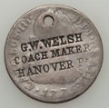Counterstamps, 1776 2 Reales G.W. WELSH COACH MAKER Counterstamp....