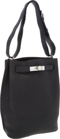 Luxury Accessories:Bags, Hermes 22cm Black Togo Leather So Kelly Shoulder Bag with Palladium Hardware. ...