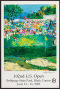 Golf Collectibles:Art, 2002 LeRoy Neiman Signed U.S. Open Lithograph....
