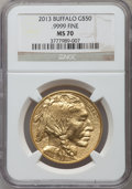 Modern Bullion Coins, 2013 G$50 One-Ounce American Buffalo MS70 NGC. NGC Census: (1620).PCGS Population (383). ...