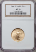 Modern Bullion Coins, 2006-W $10 Quarter-Ounce Gold Eagle MS70 NGC. NGC Census: (4370).PCGS Population (1272). Numismedia Wsl. Price for proble...