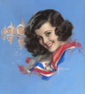 Pin-up and Glamour Art, ROLF ARMSTRONG (American, 1889-1960). Patriotic Jewel Flowers,Brown & Bigelow calendar illustration, circa 1940s.Paste... (Total: 3 Items)