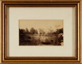 Photography:Official Photos, Michael Miley [General Lee's Photographer]. Original Rare EarlyPhoto of the Washington College Colonnade. Taken by Mile...