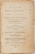 Books:Americana & American History, James Monroe. A View of the Conduct of the Executive in the Foreign Affairs of the Unites States...London: James Rid...