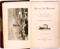 Books:Biography & Memoir, Mark Twain. Life on the Mississippi. Boston: James R.Osgood, 1883. First edition, first state, with the picture of ...