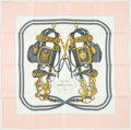 "Luxury Accessories:Accessories, Hermes Pink & Gray ""Brides de Gala,"" by Hugo Grygkar SilkScarf. ..."