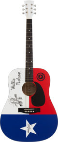Music Memorabilia:Autographs and Signed Items, Willie Nelson Signed Guitar....