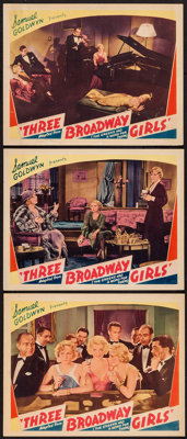 "The Greeks had a Word for Them (Astor Pictures, R-1947). Lobby Cards (3) (11"" X 14"") Reissue Title: Three Broa..."