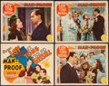 "Movie Posters:Comedy, Man-Proof (MGM, 1938). Title Lobby Card & Lobby Cards (3) (11""X 14""). Comedy.. ... (Total: 4 Items)"