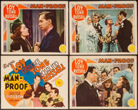 """Man-Proof (MGM, 1938). Title Lobby Card & Lobby Cards (3) (11"""" X 14""""). Comedy. ... (Total: 4 Items)"""