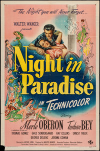 "A Night in Paradise (Universal, 1946). One Sheet (27"" X 41""). Comedy"