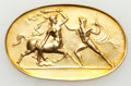 Ancients:Ancient Lots  , Ancients: 21st Century. Modern Classical Gold Placque (45mm, 11.61 gm). ...
