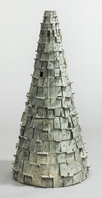 JULIUS SCHMIDT (American, b. 1923) Untitled (Cone), 1996 Bronze 38-1/2 x 17 x 17 inches (97.8 x 4