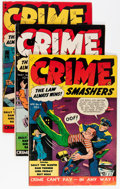 Golden Age (1938-1955):Crime, Crime Smashers #4, 10, and 15 Group (Ribage Publishing, 1951-53) Condition: Average VG+.... (Total: 3 Comic Books)