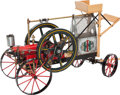 , LIVE STEAM INTERNATIONAL HARVESTER 4 HP PORTABLE ENGINE. 14 x 26 x8 inches (35.6 x 66.0 x 20.3 cm). Finely built, scarce wo...