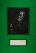 """Autographs:Non-American, Playwright George Bernard Shaw Clipped Signature with AutographNote. Measuring 6.75"""" x 2.25"""", the signature is taken from a..."""