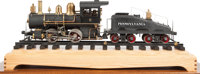 LIVE STEAM 4 INCH GAUGE PRR LOCOMOTIVE AND TENDER Case dimension: 18-1/2 x 43 x 12-1/2 inches (47.0 x 109.2 x 31