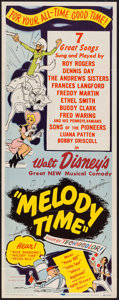 """Movie Posters:Animation, Melody Time (RKO, 1948). Insert (14"""" X 36""""). Animation.. ..."""