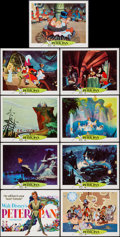"Movie Posters:Animation, Peter Pan (Buena Vista, R-1969). Lobby Card Set of 9 (11"" X 14""). Animation.. ... (Total: 9 Items)"