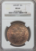 Morgan Dollars: , 1878 8TF $1 MS64 NGC. NGC Census: (1969/392). PCGS Population(2466/552). Mintage: 699,300. Numismedia Wsl. Price for probl...