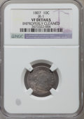 Early Dimes: , 1807 10C -- Improperly Cleaned -- NGC Details. VF. JR-1. NGCCensus: (4/196). PCGS Population (16/248). Mintage: 165,000. ...