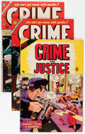 Golden Age (1938-1955):Crime, Crime and Justice Group (Charlton, 1954-55) Condition: Average FN.... (Total: 12 Comic Books)