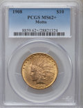 Indian Eagles: , 1908 $10 Motto MS62+ PCGS. PCGS Population (1488/1088). NGC Census:(1488/731). Mintage: 341,300. Numismedia Wsl. Price for...
