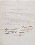 Autographs:Military Figures, Adrian Woll Manuscript Letter Signed....