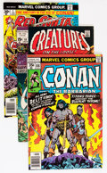 Bronze Age (1970-1979):Adventure, Conan the Barbarian Related Short Box Group (Marvel, 1973-82) Condition: Average VG/FN....