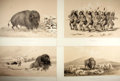 Books:Prints & Leaves, [American Indians] Lot of Four Sepia Lithograph Prints FeaturingNative American Scenes After Works by George Catlin. 22.25 ...