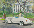 Mainstream Illustration, HARRY ANDERSON (American, 1906-1996). Stanton Hall, Natchez,Mississippi, 1935 Auburn, Great Moments in Early AmericanMot...