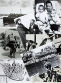 """Books:Prints & Leaves, [American Heritage]. Group of Eight Photographs Related toPalestine and the Creation of the State of Israel. Most 8"""" x10""""...."""