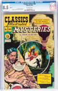 Golden Age (1938-1955):Horror, Classics Illustrated #40 HRN 75 - Mysteries by Edgar Allen Poe(Gilberton, 1950) CGC VF+ 8.5 Off-white pages....