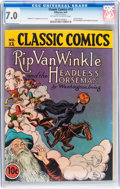Golden Age (1938-1955):Classics Illustrated, Classic Comics #12 Rip Van Winkle - Original Edition (Gilberton, 1943) CGC FN/VF 7.0 Off-white to white pages....
