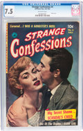 Golden Age (1938-1955):Romance, Strange Confessions #4 (Ziff-Davis, 1952) CGC VF- 7.5 Off-whitepages....