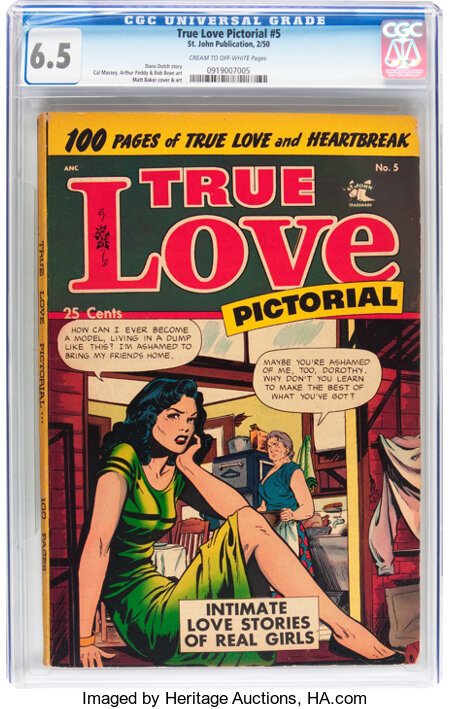 True Love Pictorial #5 (St. John, 1953) CGC FN+ 6.5 Cream to off-white pages....