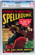 Golden Age (1938-1955):Horror, Spellbound #6 (Atlas, 1952) CGC VF- 7.5 Off-white to whitepages....