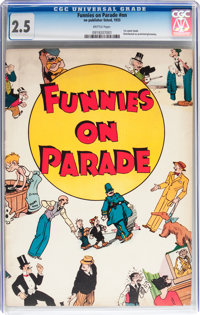 Funnies on Parade #nn (Eastern Color, 1933) CGC GD+ 2.5 Brittle pages