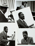 """Books:Prints & Leaves, [American Heritage]. Group of Five Press Photographs of TheloniousMonk. Four 7"""" x 9"""" and one 8"""" x 10"""". Four released by Col..."""