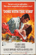 "Movie Posters:Academy Award Winners, Gone with the Wind (MGM, R-1968). One Sheet (27"" X 41""). AcademyAward Winners.. ..."