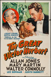 "The Great Victor Herbert (Paramount, 1939). Other Company One Sheet (27"" X 41""). Musical"