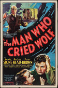"Movie Posters:Crime, The Man Who Cried Wolf (Universal, 1937). One Sheet (27"" X 41"").Crime.. ..."